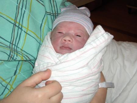 Micah Wilkes Smedberg, newborn