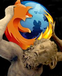 Preliminary XULRunner Logo [Atlas Holding Up Firefox]
