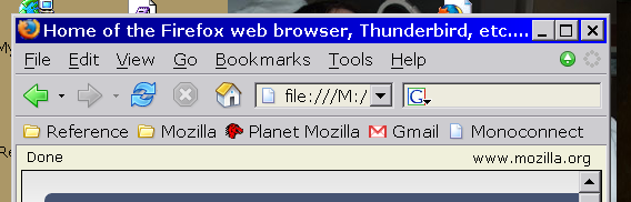 Browser without tab bar